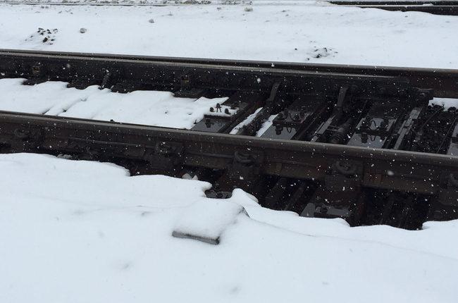 Railroad Tracks and Snow